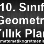 2014-2015 10. Sınıf Geometri Yıllık Planı