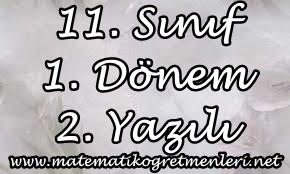 2014-2015 11. Sınıf Matematik 1. Dönem 2. Yazılı