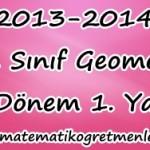 12. Sınıf Geometri 1. Dönem 1. Yazılı