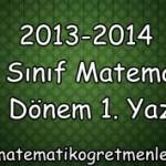 2013-2014 12. Sınıf Matematik 2. Dönem 1. Yazılı