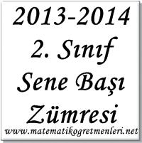 2013-2014 İlkokul 2. Sınıf Sene Başı Zümresi
