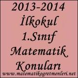 2014-2015 İlkokul 1. Sınıf Matematik Konuları