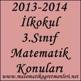 2014-2015 3. Sınıf Matematik Konuları