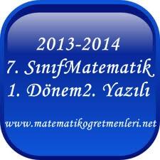 2013-2014 Matematik 7. Sınıf 1. Dönem 2. Yazılı