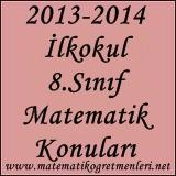 2014-2015 8. Sınıf Matematik Konuları