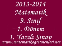 2014-2015 Matematik 9. Sınıf 1. Dönem 1. Yazılı Sınav
