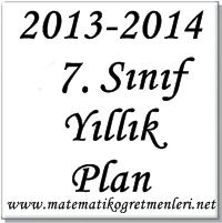 2013-2014 7.Sınıf Matematik Yıllık Planı İndir