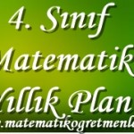 2014-2015 4. Sınıf Matematik Yıllık Planı