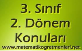 3. Sınıf Matematik 2. Dönem Konuları