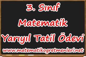 2013-2014 3. Sınıf Matematik Yarıyıl Tatil Ödevi