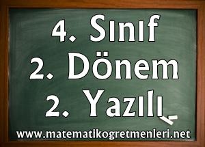 2014-2015 Matematik 4. Sınıf 2. Dönem 2. Yazılı