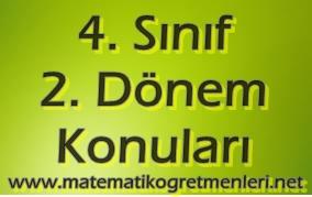 4. Sınıf Matematik 2. Dönem Konuları