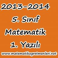 Matematik 5. Sınıf 1. Dönem 1. Sınav 2013-2014