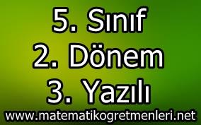 2013-2014 Matematik 5. Sınıf 2. Dönem 3. Yazılı (Ortak Sınav)