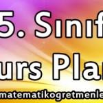 2014-2015 Matematik 5. Sınıf Kurs Planı