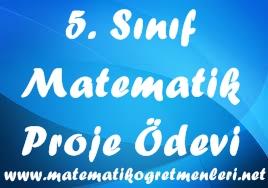 5. Sınıf Matematik Proje Ödevi Konuları