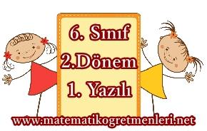 2014-2015 6. Sınıf Matematik 2. Dönem 1. Yazılı