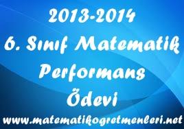 6. Sınıf Matematik 2. Dönem Performans Ödevleri