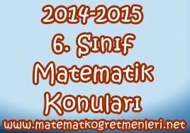 2014-2015 6. Sınıf Matematik Konuları