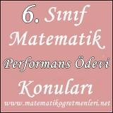 2013-2014 Matematik 6. Sınıf Performans Ödevi Konuları
