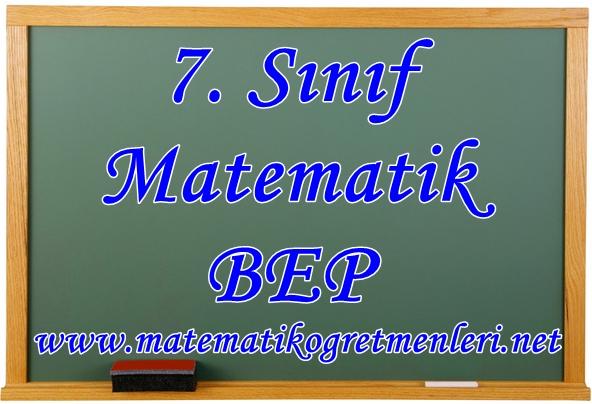 7. Sınıf Matematik Bep Planı