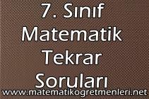 7. Sınıf Matematik 1. Dönem Tekrar Testi