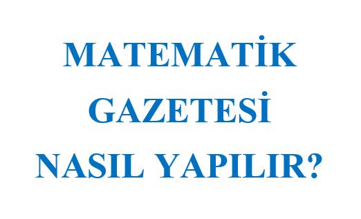 5. Sınıf Matematik Gazetesi Proje Ödevi