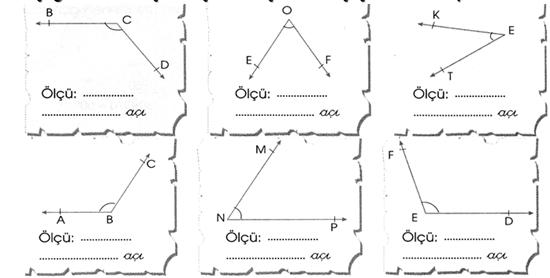 Açılar Etkinliği 4. Sınıf Matematik