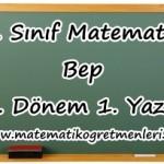 8. Sınıf Matematik BEP 1. Dönem 1. Yazılı