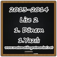 2013-2014 10. Sınıf Matematik 1. Dönem 1. Yazılı