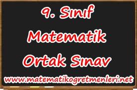 2013-2014 9. Sınıf Matematik Ortak Sınavı