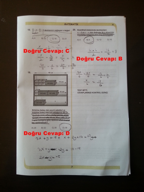 28 Nisan 2014 TEOG Matematik Soru ve Cevapları