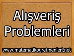 Alışveriş Problemleri 3. Sınıf Matematik