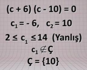 10. Sınıf İkinci Dereceden Denklemler Konu Anlatımı