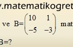Matrisler – 11. Sınıf Matematik