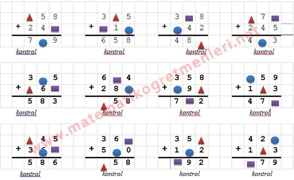 Toplama İşleminde Verilmeyen Sayı 3. Sınıf Matematik