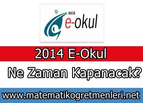 2013-2014 E-Okul Ne Zaman Kapanacak?