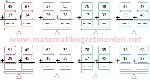 Eldeli Toplama İşlemi 2. Sınıf Matematik