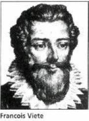 Francois Viete (1540-1603)