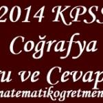 2014 KPSS Coğrafya Soru ve Cevapları