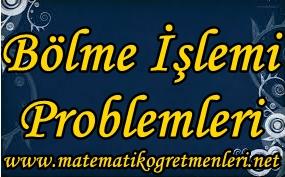 Bölme İşlemi Problemleri 3. Sınıf Matematik