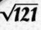 Karekök 121 dışarıya nasıl çıkar?