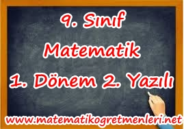 2013-2014 9. Sınıf Matematik 1. Dönem 2. Yazılı (Yeni)