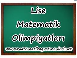 Lise Matematik Olimpiyatları Hazırlık Notları