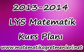 2013-2014 LYS Matematik Kurs Planı