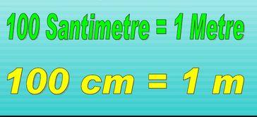Metre ve santimetre ile ilgili çözümlü sorular