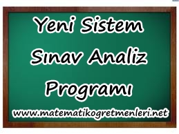 Yeni Sistem Matematik Sınav Analiz Programı